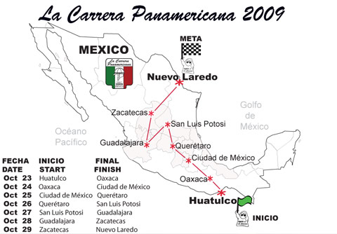 La Carrera Panamericana 2009 en direct
