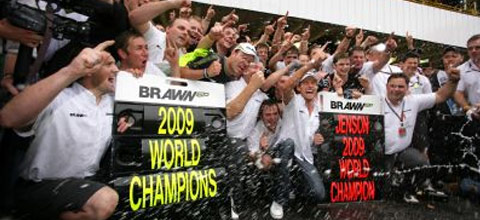 Button et Brawn GP, champions du monde !
