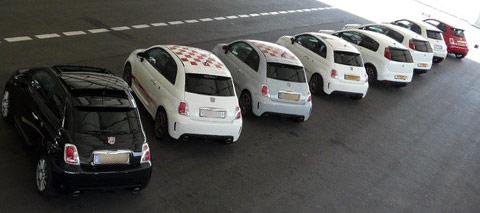 Sortie de Fiat 500 Abarth à St-Dié