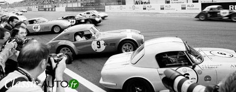 Départ d'une manche de Le Mans Classic