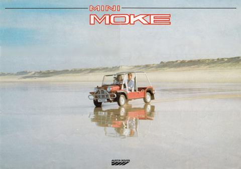 Publicité pour la Mini Moke