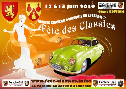 Affiche de la Fête des Porsche Classic 2010
