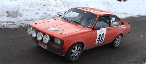 Opel Kadett de l'équipage Belge victorieux au Monte Carlo Historique 2010