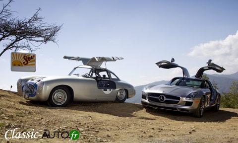 Mercedes 300 SL de &952 et la SLS de 2010