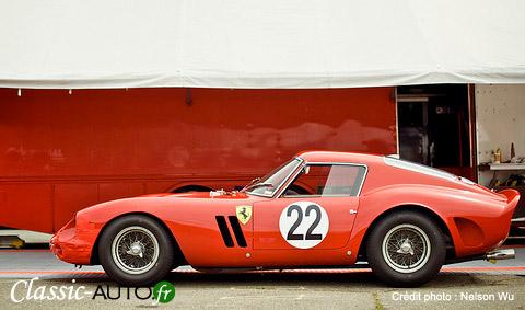 Une des premières Ferari 250 GTO, ici au Ferrari Challenge Infineon Raceway 2009