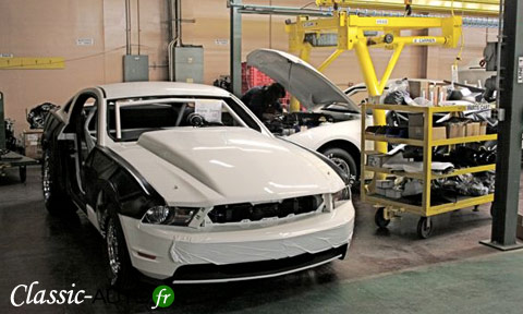 La production de la Ford Mustang Cobra Jet 2010 a débuté