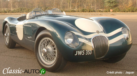 La Jaguar Type C et son aérodynamique poussée pour l'époque