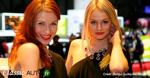 Les hôtesses du salon de l'auto de Genève 2010 en photos
