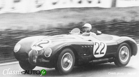 Jaguar Type C de 1951 qui remporte les 24 Heures du Mans