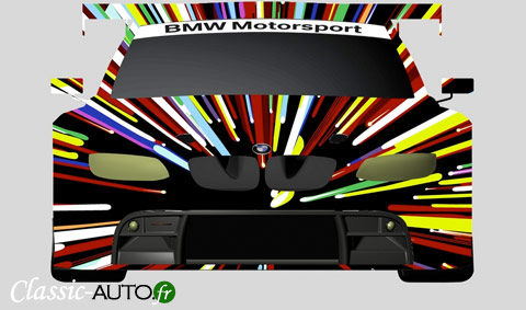 Future décoration Art car de la M3 GTR aux 24 Heures du Mans 2010