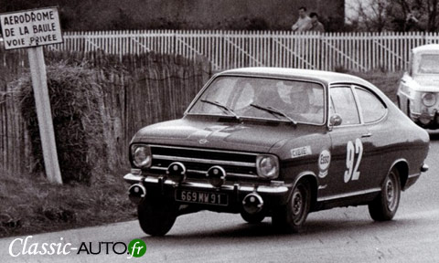 Kadett B Coup Rallye 1900 sur le circuit de la Baule en 1970