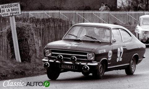 Kadett B Coupé Rallye 1900 sur le circuit de la Baule en 1970