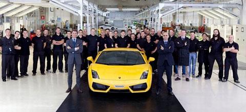 La 10000e Lamborghini Gallardo