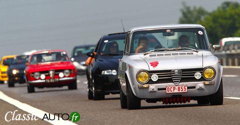 Rassemblement Alfa Romeo lors du Raduno Centenario Alfa Romeo à Milan