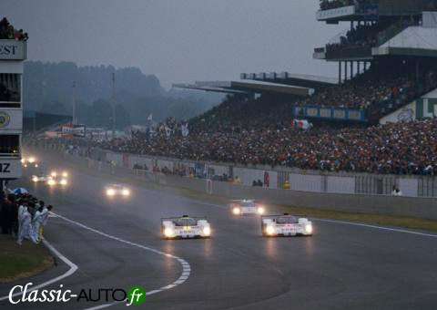 Le Mans 1992 : le dpart des 905 vers la victoire