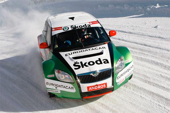 Jacques Villeneuve chez Skoda en Trophée Andros