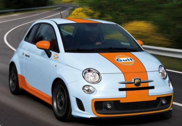 Série limitée Fiat 500 Gulf