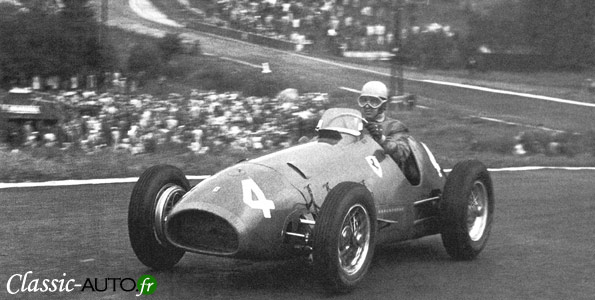 Alberto Ascari au grand prix de Belgique 1952
