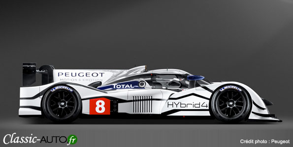 Salon de Genve 2011 : Peugeot 908 Hybrid 4