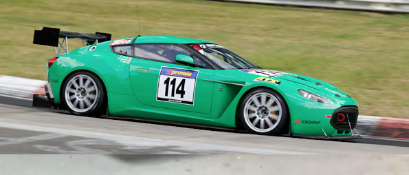 L'Aston Martin V12 Zagato débutait au Nurburgring !