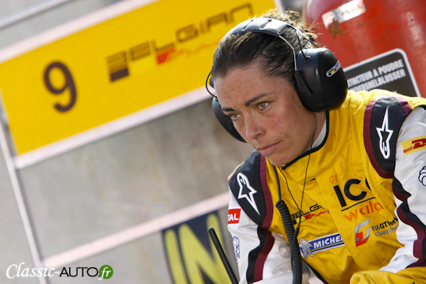 Vanina Ickx lors de la manche FIA World GT1 de Zolder 2011. Photo : V-IMAGES.com/Fabre.
