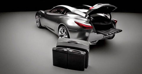 L'Infiniti Essence et sa gamme de bagagerie
